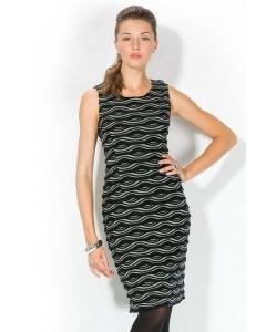 Черно-серое облегающее платье