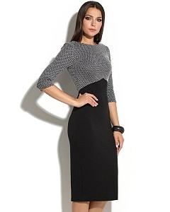 Платье-футляр с длинным рукавом Donna Saggia DSP-242-4t