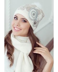 Комплект (шапка + шарф) Landre Бриджит (молоко/бежевый)