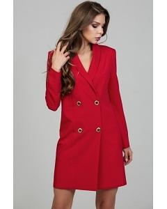 Красное двубортное мини-платье Donna Saggia DSP-305-56