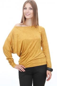Асимметричная блузка модного золотого цвета