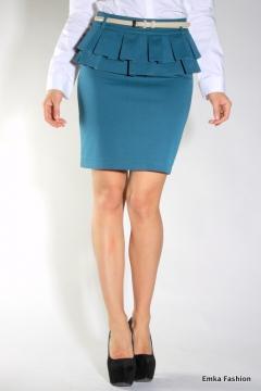 Юбка с баской Emka Fashion 358-carla