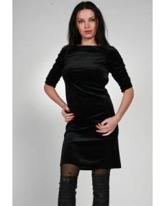 Черное платье с открытой спиной | 0084