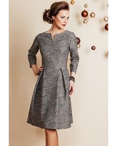 Шикарное жаккардовое платье с люрексом TopDesign Festive NB6 08