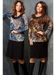 Джемпер леопардовой расцветки Topdesign B3 147