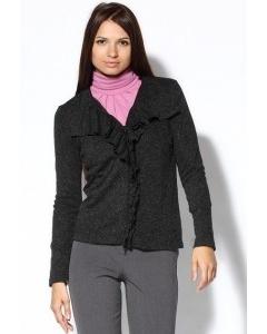 Темно-серый женский жакет