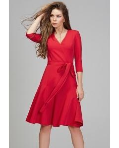 Платье малинового цвета Donna Saggia DSP-288-13