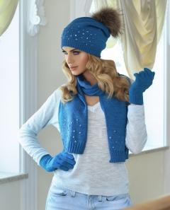 Комплект шапка с помпоном и шарф Kamea Tiona