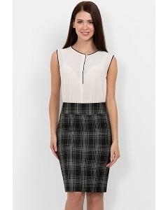 Юбка чёрно-белая Emka Fashion 202-60/polina