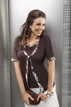 Блузка Enny шоколадного цвета   15002