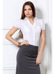 Белая блузка с серебристыми точками