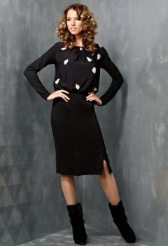 Черное платье TopDesign B3 029