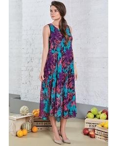 Длинное летнее платье из вискозы TopDesign A8 120
