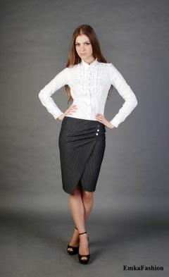 Изящная юбка с запАхом Emka Fashion
