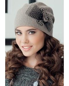 Коричневая женская шапка Landre Урсула
