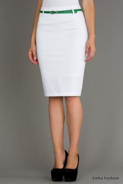 Юбка белого цвета Emka Fashion 202-florencia