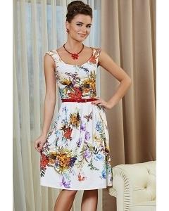 Цветочное платье TopDesign premium PA4 36