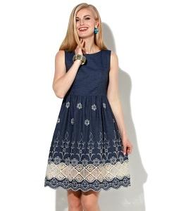 Летнее платье с кружевом Donna Saggia DSP-52-62