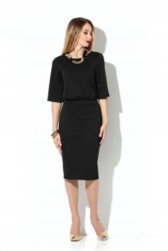 Чёрное платье с объемным верхом Donna Saggia DSP-199-4t