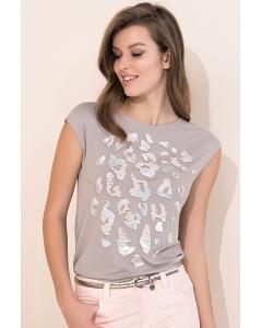Летняя бежевая блуза Zaps Nely