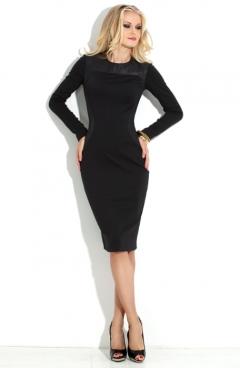 Черное облегающее платье Donna Saggia DSP-117-4t