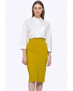 Стильная юбка-карандаш горчичного цвета Emka 616/alana