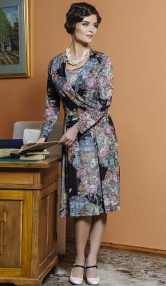 Трикотажное платье TopDesign Premium PB4 22