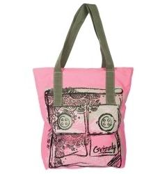 Розово-серая сумка Grizzly | Л-904