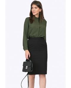 Чёрная юбка с боковыми карманами Emka S662/binazir