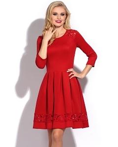 Красное платье Donna Saggia DSP-220-29t