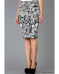 Черно-белая юбка Emka Fashion 202-meggy