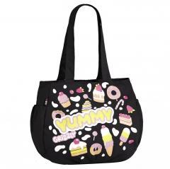 "Чёрная сумка Grizzly ""Yummi"" | ДМ-1246"