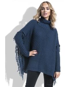 Женский свитер oversize с бахромой Fimfi I222