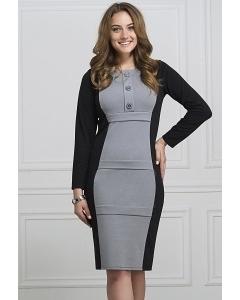 Офисное двухцветное платье Rosa Blanco 3044