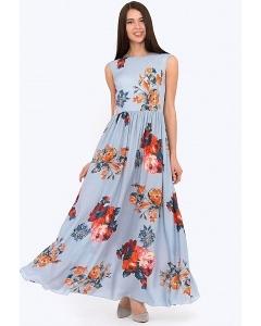 Струящееся платье в пол Emka PL-425/perla