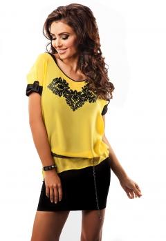 Летняя желтая блузка Enny 17006