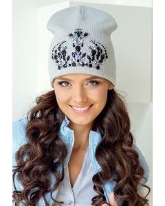 Светло-серая шапка Landre Принцесса