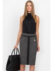 Чёрно-серая юбка Emka Fashion 515-taira