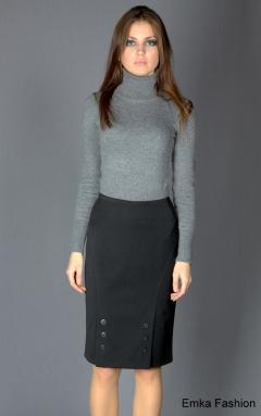 Классическая юбка с декором