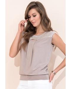 Блузка летняя бежевого цвета Zaps Janay