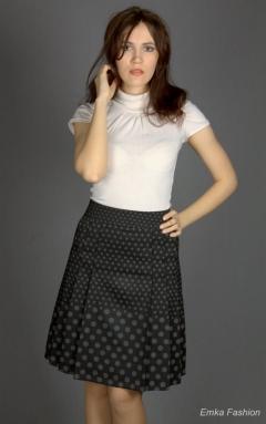 Чёрная юбка в горошек