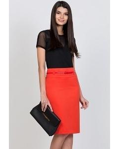 Юбка морковного цвета Emka Fashion 202-60/antonina