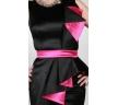 черно-розовое платье