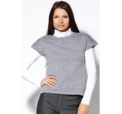 Светло-серый джемпер с коротким рукавом