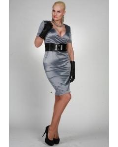 Шикарное серебристое платье | 9859