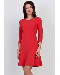 Красное короткое платье Emka Fashion PL-442/rozmari