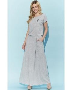 Длинное летнее платье серого цвета Zaps Selina