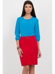 Юбка-карандаш красного цвета Emka Fashion 480-rostislava