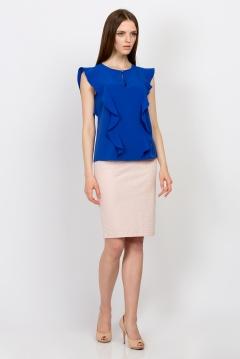Синяя блузка с жабо Emka Fashion b 2145/hailey