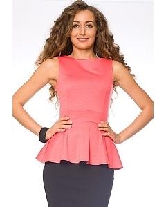 Коралловая блузка Donna Saggia | DSB-15-30t